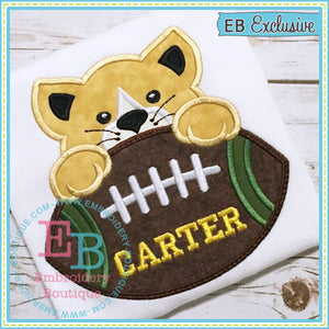Football Wildcat Boy Applique