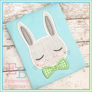 Vintage Boy Bunny Applique, Applique
