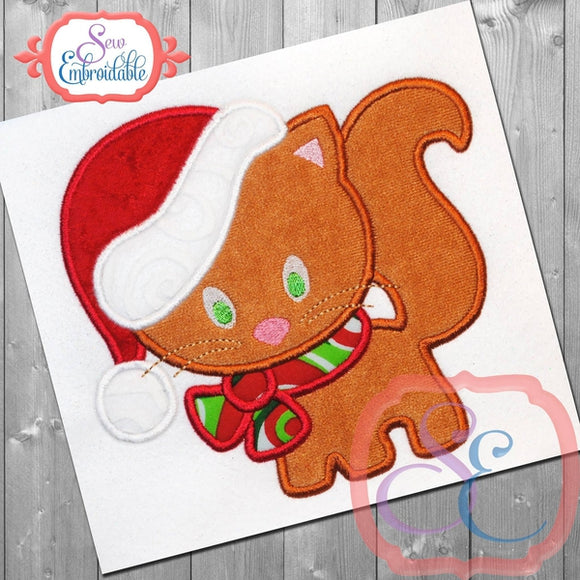 Christmas Kitty Applique