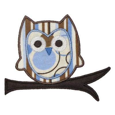 Owl Branch Applique - embroidery-boutique