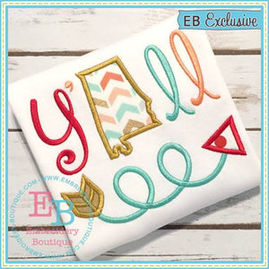 Y'all Alabama Applique - embroidery-boutique