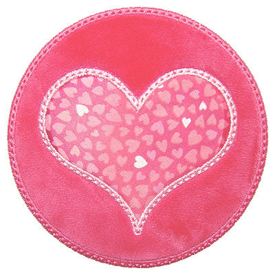 Round Heart Patch - embroidery-boutique