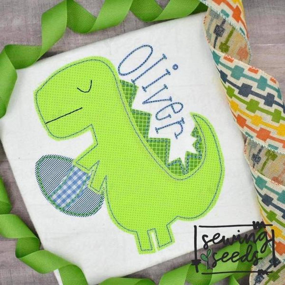 Easter Dino Applique SS, Applique