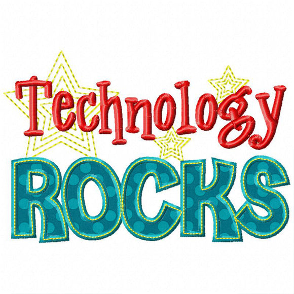 Technology Rocks Applique - embroidery-boutique
