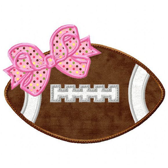 Football with Bow Applique, Applique