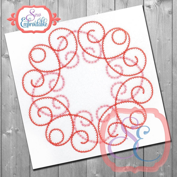 Anne Swirl Embroidery Design, Embroidery
