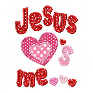 Jesus Loves Me Applique - embroidery-boutique