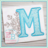 Snowflake Applique Alphabet