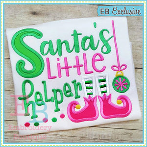 Santa's Helper Applique, Applique