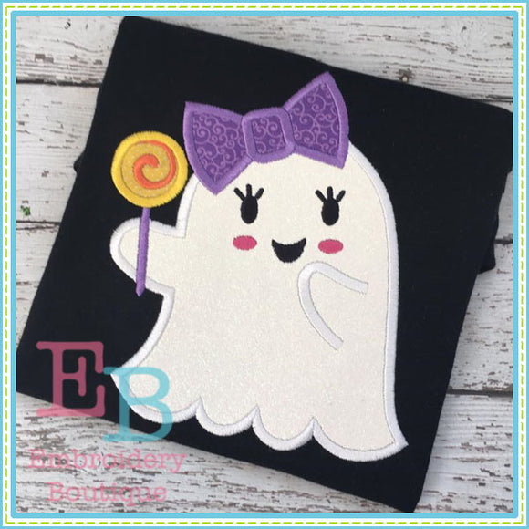 Candy Ghost Applique - embroidery-boutique