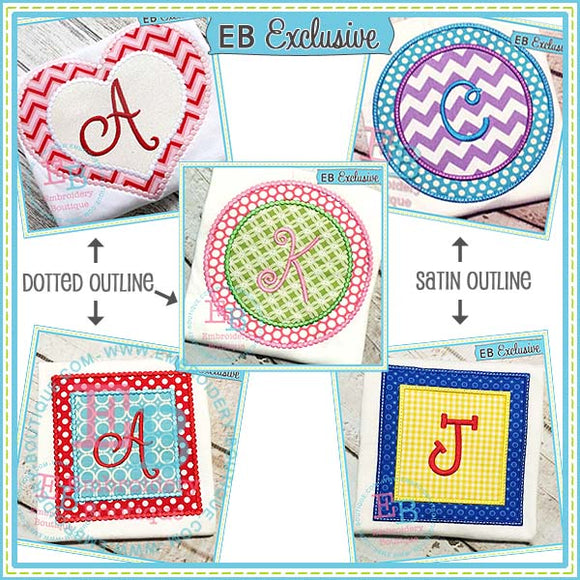 Applique Shapes Set (Dotted and Satin) - embroidery-boutique
