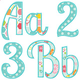 Summer Applique Alphabet, Applique Alphabet