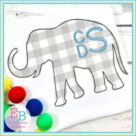 Elephant Silhouette Applique