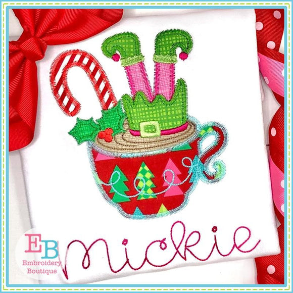Elf Hot Chocolate Applique