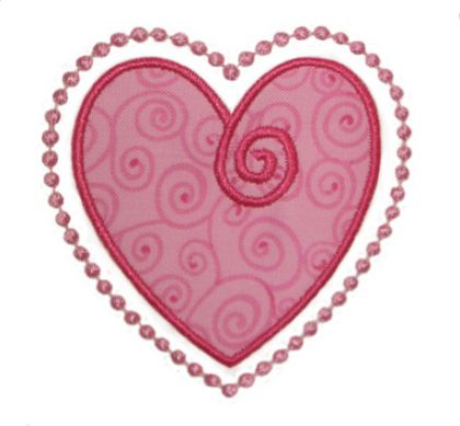 Swirly Heart Applique - embroidery-boutique