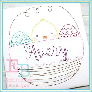 Vintage Chick Easter Basket Design