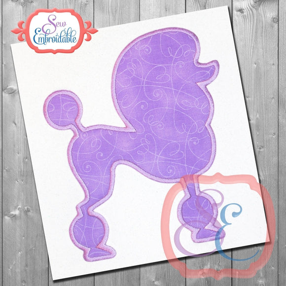Poodle Shape Applique, Applique
