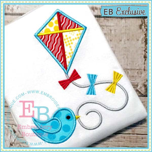 Bird Kite Applique