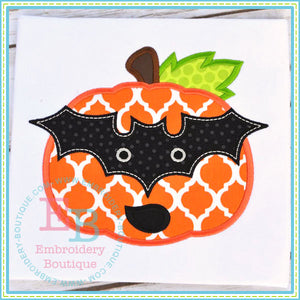 Bat Mask Pumpkin Applique, Applique