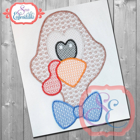 Motif Turkey Head Embroidery Design - embroidery-boutique
