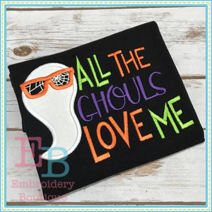 All The Ghouls Love Applique - embroidery-boutique