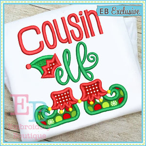 Cousin Elf Applique, Applique