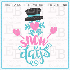 Snow Days SVG - embroidery-boutique