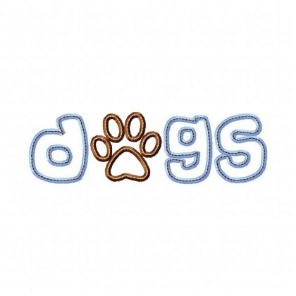 Dogs Applique - embroidery-boutique