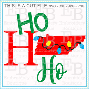 Ho Ho Ho Tennessee SVG - embroidery-boutique