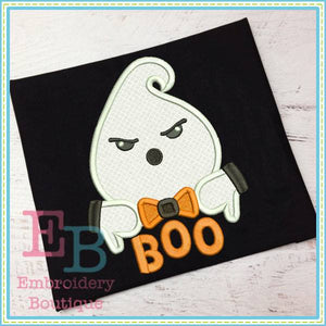 Boo Ghost Applique - embroidery-boutique