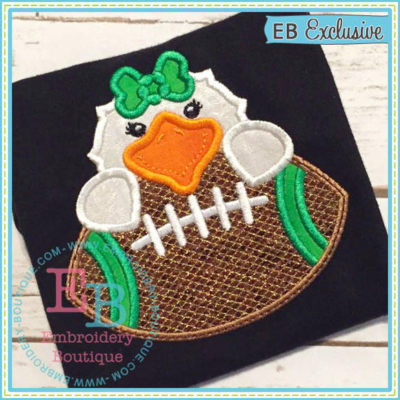 Football Eagle Girl Applique, Applique