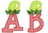 Elf Hat Applique Alphabet