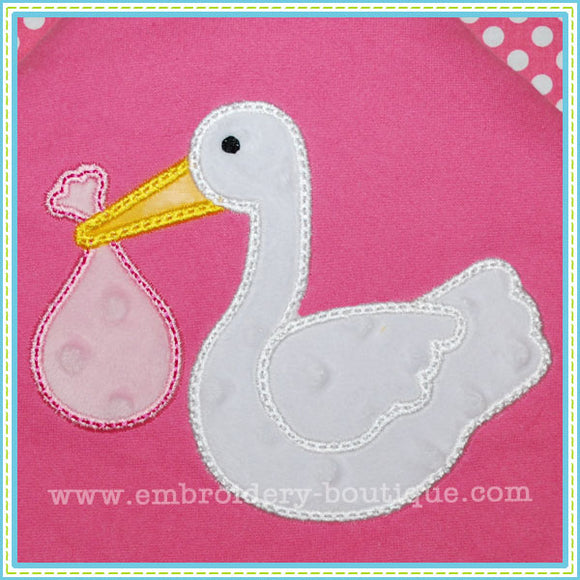Stork Applique, Applique