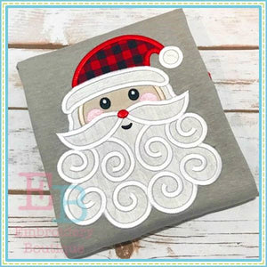 Swirly Beard Santa 2 Applique