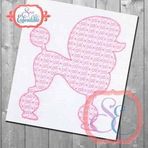 Poodle Shape Motif Embroidery Design, Embroidery