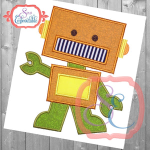 Rex the Robot Applique - embroidery-boutique