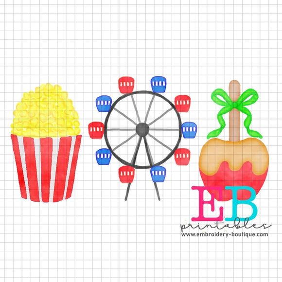 Fair Trio Printable Design PNG - embroidery-boutique