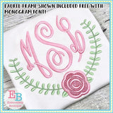 Fancy Circle Monogram Embroidery Font, Embroidery Font