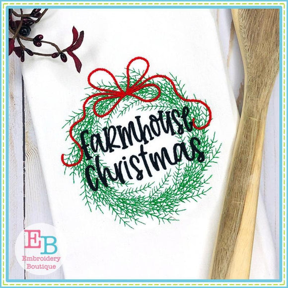 Farmhouse Christmas Wreath Design