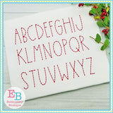 Farmhouse Dots Embroidery Alphabet - Embroidery Boutique