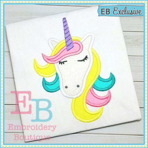 Unicorn Head Applique, Applique