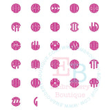 Dotted Circle Monogram Applique Alphabet, Applique Alphabet