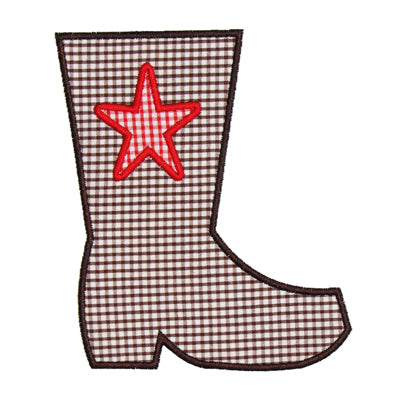 Star Boot Applique - embroidery-boutique