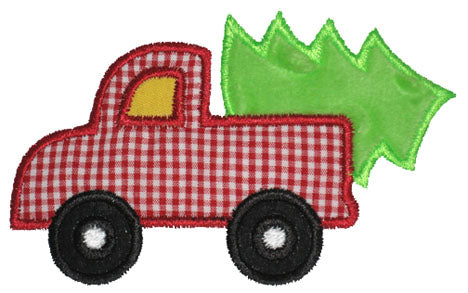 Truck N Tree Applique - embroidery-boutique