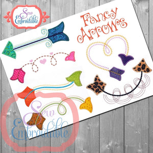 Fancy Arrow Set - embroidery-boutique