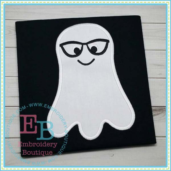 Ghost Boy with Glasses Applique