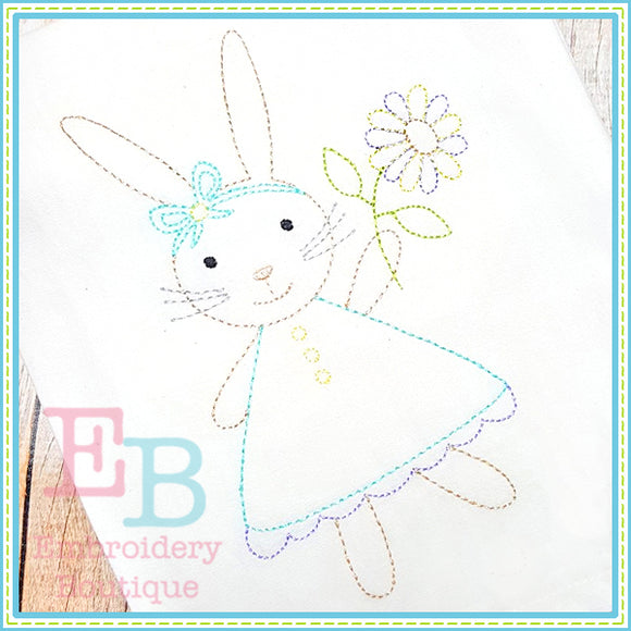 Vintage Bunny Dress Design