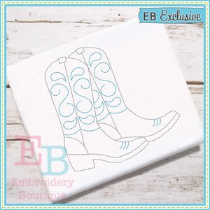 Vintage Boots Design, Embroidery