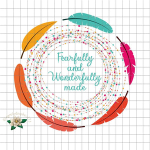 Fearfully and Wonderfully Made PNG Printable File - embroidery-boutique