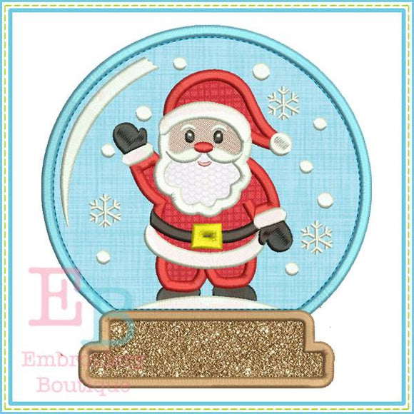 Santa Snow Globe Applique - embroidery-boutique